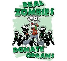 Real Zombies Donate Organs Photographic Print