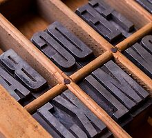 Alphabet in a typesetter drawer by Ricard Vaqué