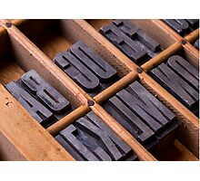 Alphabet in a typesetter drawer Photographic Print