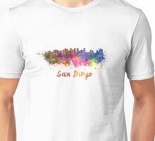 San Diego skyline in watercolor Unisex T-Shirt