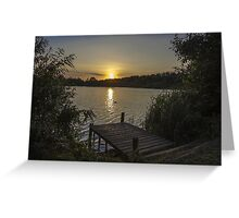 sunset over haysden Greeting Card
