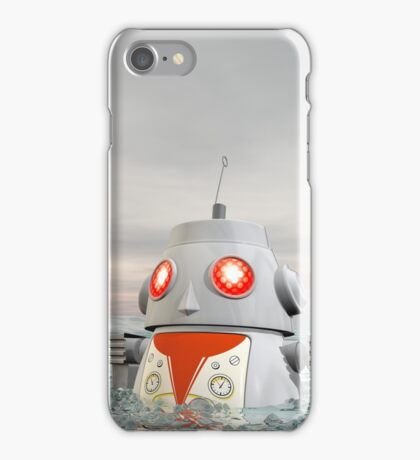 Robot Crash at Sea iPhone Case/Skin