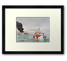 Robot Crash at Sea Framed Print