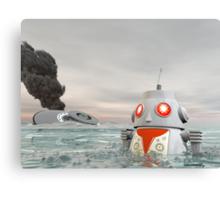 Robot Crash at Sea Canvas Print