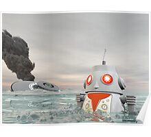 Robot Crash at Sea Poster
