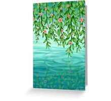 Hanging Over Water Greeting Card