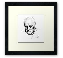 Sir Winston Churchill Framed Print