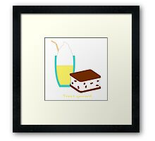 Treat Yourself Framed Print