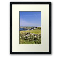 Down to the sea Framed Print