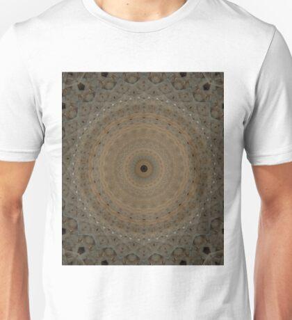 Beige mandala with geometric ornaments Unisex T-Shirt