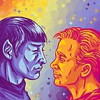 Kirk and Spock by sarahstarseed