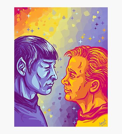 Kirk and Spock Photographic Print