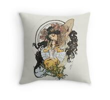 Alphonse mucha Vintage Art Throw Pillow