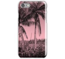 Palms Trees in Africa - Pink iPhone Case/Skin