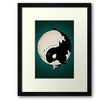 When Willy meets Moby Framed Print