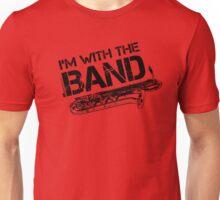 I'm With The Band - Baritone Saxophone (Black Lettering) Unisex T-Shirt