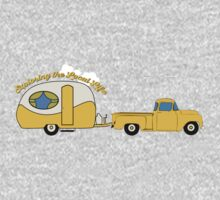 Yellow Truck & Camper One Piece - Short Sleeve