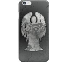 Weeping Angel Design with Circular Gallifreyan iPhone Case/Skin