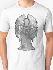 Weeping Angel Design with Circular Gallifreyan Unisex T-Shirt