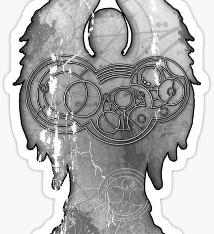 Weeping Angel Design with Circular Gallifreyan Sticker