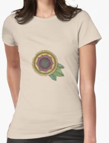 Sunny-flower Womens Fitted T-Shirt