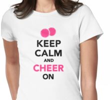 Keep calm and cheer on Womens Fitted T-Shirt