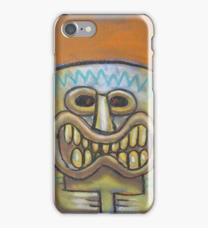 Chalk Pastel Tiki  iPhone Case/Skin
