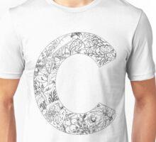 Botanical Alphabet Letter C Unisex T-Shirt