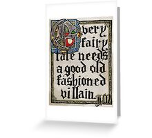 Sherlock Moriarty Calligraphy Greeting Card