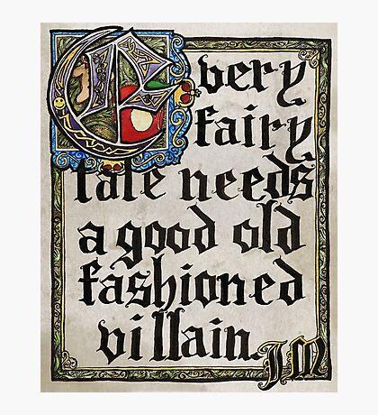 Sherlock Moriarty Calligraphy Photographic Print