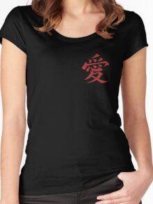 Naruto Gaara Love Symbol Women's Fitted Scoop T-Shirt