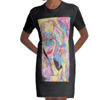 Groovy Chick Graphic T-Shirt Dress