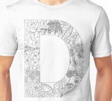 Botanical Alphabet Letter D Unisex T-Shirt