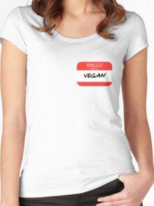 Hello I'm a Vegan Women's Fitted Scoop T-Shirt