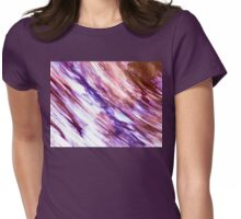 Marbleized in Purples and Pinks Womens Fitted T-Shirt