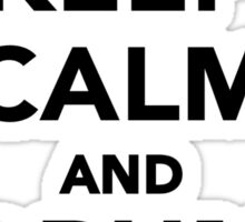 Keep calm and drum on Sticker