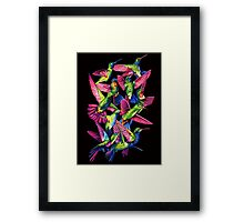 Hummingbird Dance in Sharpie Framed Print