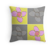 Bold Flowers Throw Pillow