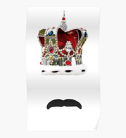 The Moustache Queen Poster