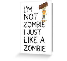 funny Zombie kid Greeting Card