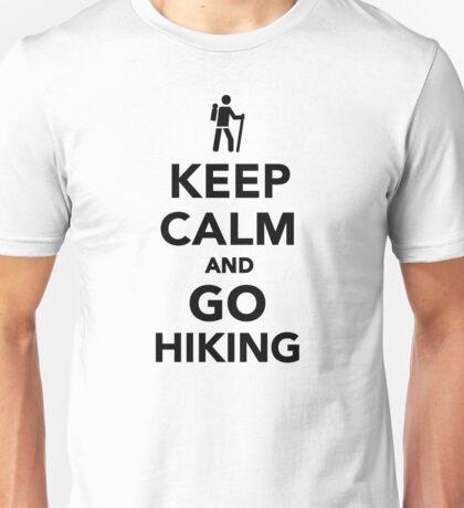 Keep calm and go hiking Unisex T-Shirt