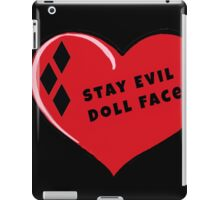Stay Evil Doll Face Little Red Harley Heart iPad Case/Skin