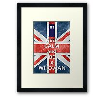 Keep calm and be a Whovian Framed Print