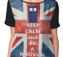 Keep calm and be a Whovian Chiffon Top