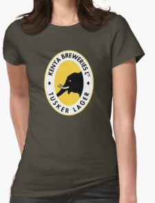 TUSKER BEER LAGER KENYA Womens Fitted T-Shirt