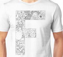 Botanical Alphabet Letter F Unisex T-Shirt