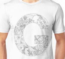 Botanical Alphabet Letter G Unisex T-Shirt