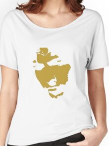 black and gold music legend silhouette Women's Relaxed Fit T-Shirt