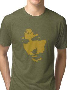 black and gold music legend silhouette Tri-blend T-Shirt