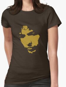 black and gold music legend silhouette Womens Fitted T-Shirt